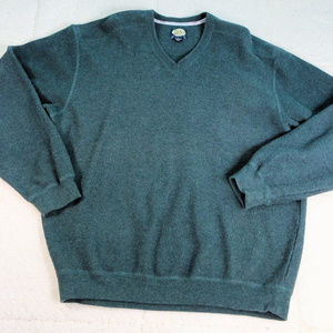 Tommy Bahama Green Thick L/S Thermal Pullover Lg